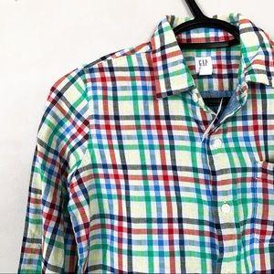 GAP • Gingham Plaid Button Down Shirt